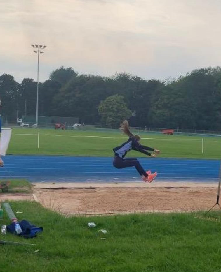 Grace Ratcliffe who qualified to represent Cheshire in Long Jump.