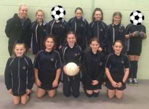Year 7 Girls football team