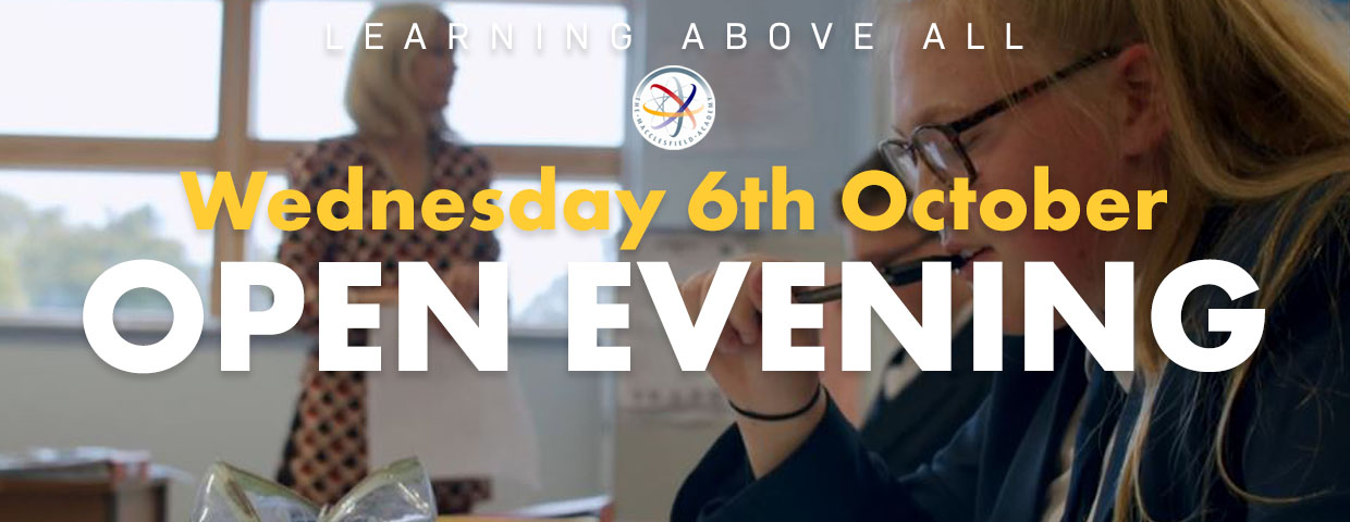 Open Evening Wednesday 6th October at 4.30 pm